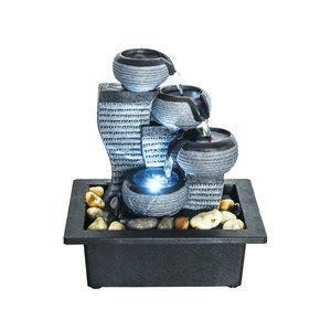4-Tier Desktop Water Fountain Submersible Pump